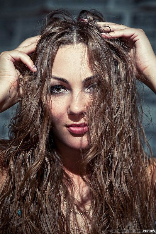 девушка, портрет, волосы девушкаphoto preview