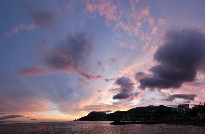 крым, алушта, закат Закат...photo preview