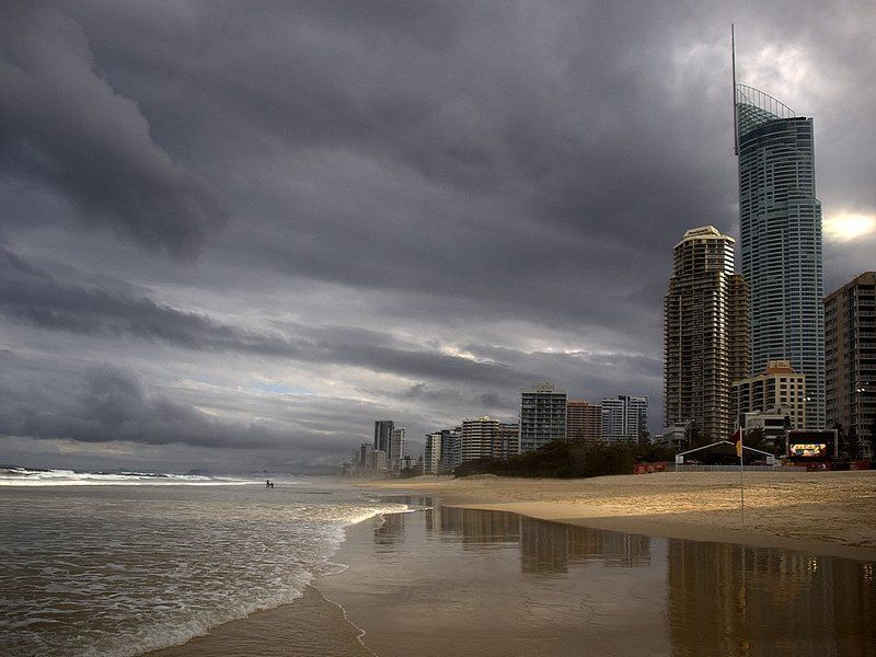 океан, золотой, берег Город и Океанphoto preview