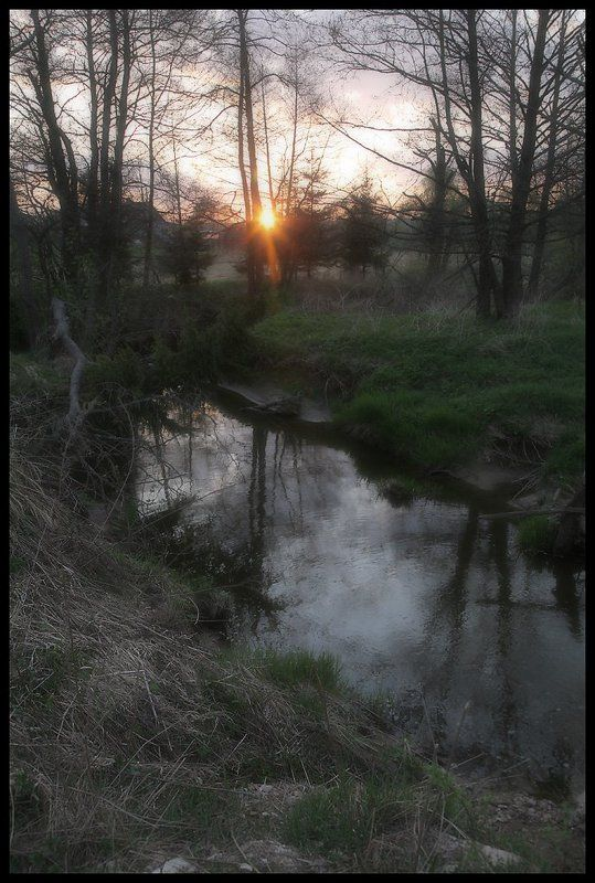 природа, пейзаж, закат Вечернее настроениеphoto preview