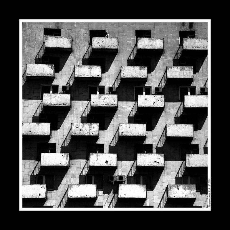 архитектура, черно-белый, шарада Загадочные прямоугольникиphoto preview