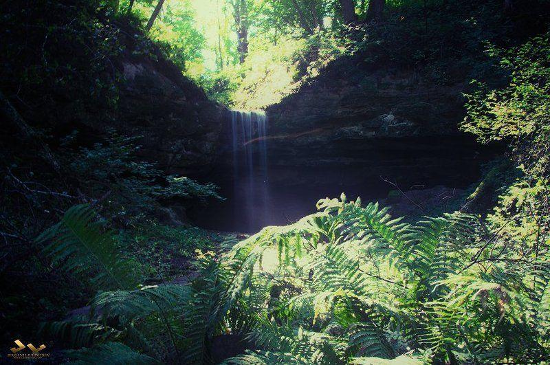 водопад, природа Дикий водопадphoto preview