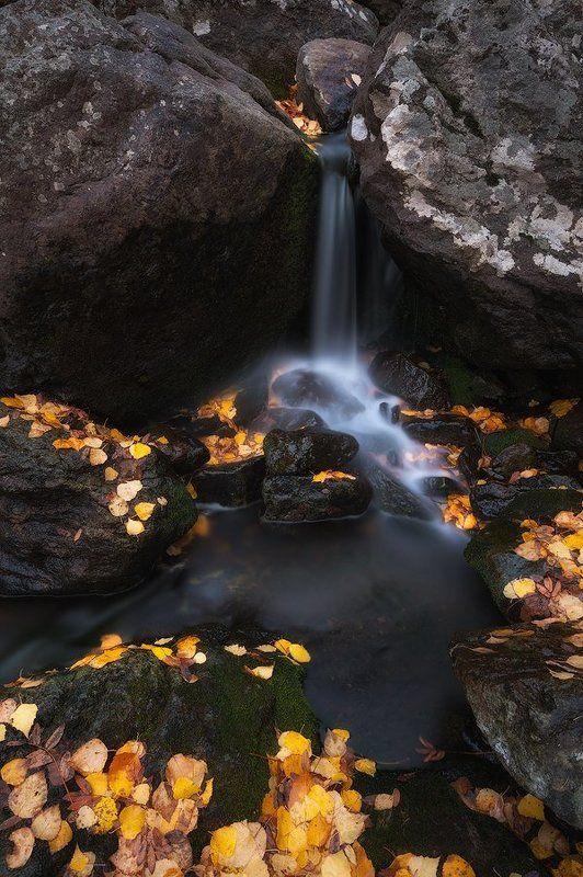 вода, осень, ручей, листья, желтые, камни, урал, горы, башкирия photo preview