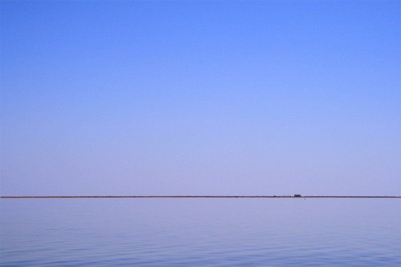 сиваш, крым, море, вода, лето, синий, россия, минимализм Границаphoto preview