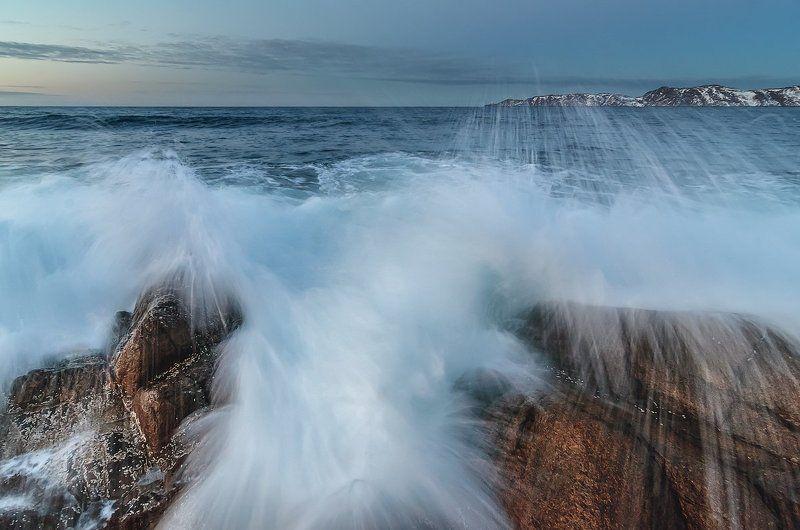 волна, море, териберка, брызги, кольский, пейзаж За секунду доphoto preview