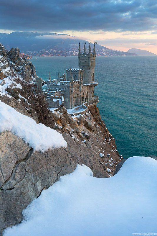 крым, ялта, море, пляж, волна, ласточкино гнездо, зима, снег, мороз, циклон, крымские пейзажи, фотограф ялта, фотограф крым Зима в Ялтеphoto preview