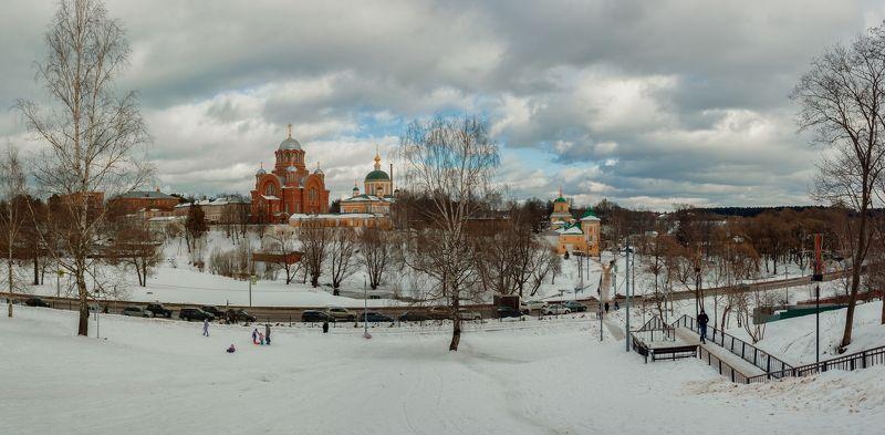 пейзаж, зима. храм Покровский Хотьков монастырьphoto preview