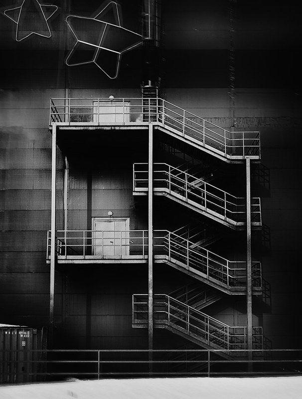 лестница, архитектура, чб ***photo preview