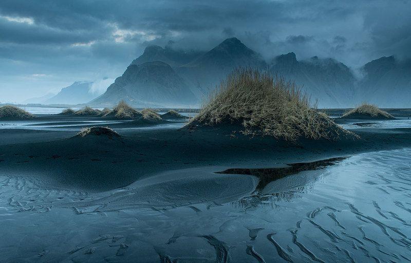 Стоккснес, исландия Туманный Стоккснесphoto preview