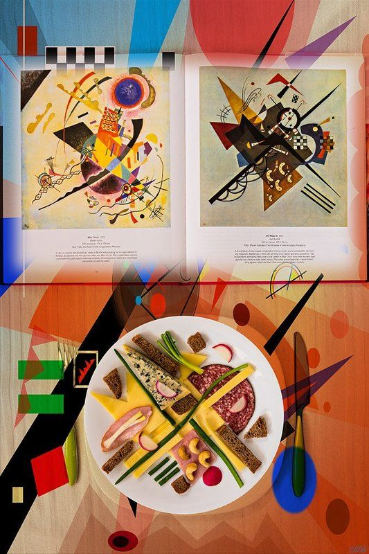 abstract, abstract art, color, colors, color image, concept, conceptual, conceptual art, conceptual image, image, lunch, kandinsky, still life, Lunch with Kandinskyphoto preview