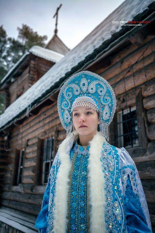 Дубна, Зима, Портрет девушки, Россия, Снегурочка Жила-была снегурочка...продолжение.photo preview