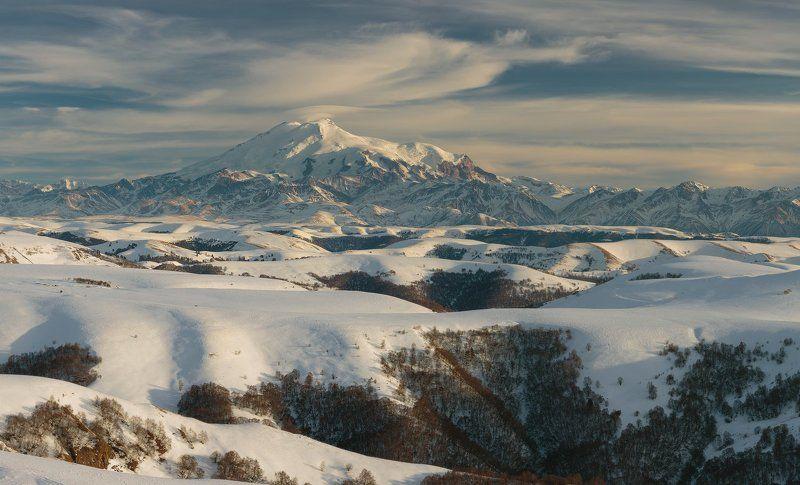Эльбрус, горы, Кавказ, зима Эльбрус с Гум-Башиphoto preview