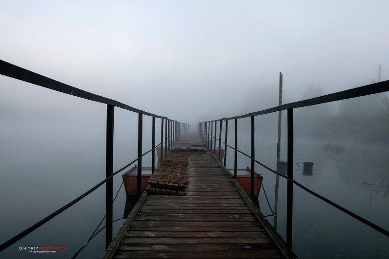 пейзаж,природа,утро,туман,канал имени москвы, Скоро рассвет,выход есть.photo preview