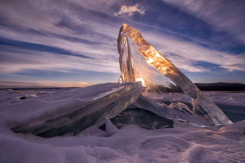 Байкал, лёд, лёд Байкала, природа, пейзаж, зимний Байкал, рассвет, солнце Сокровища Байкалаphoto preview