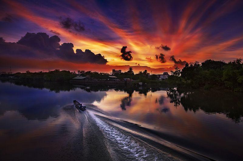 vietnamsunsetriver Sunset Riverphoto preview