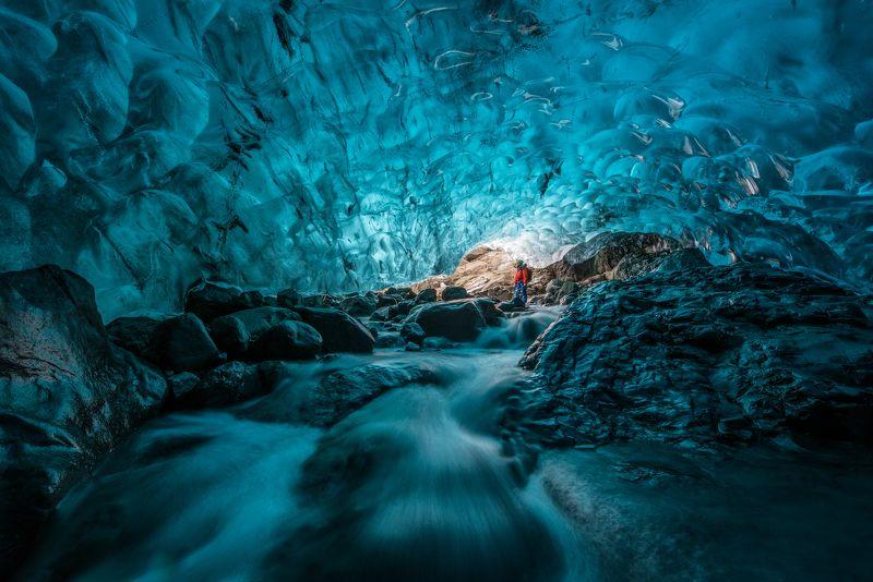 исландия, пещера, ледник, iceland, cave, glacier Исследовательphoto preview