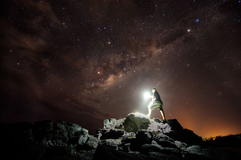 Milky way, Mauritius, long exposure, Poste LaFayette Milky way in Mauritiusphoto preview