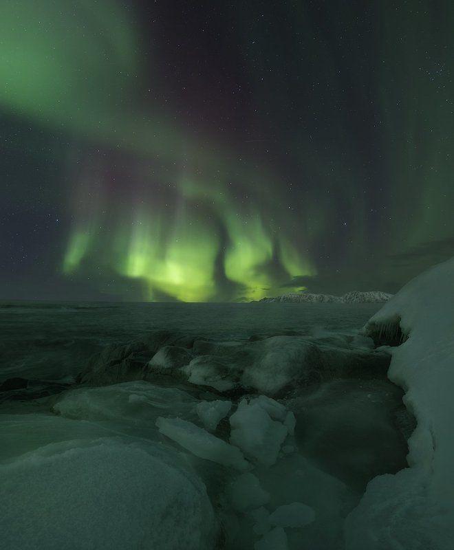 Северное сияние, Териберка, Aurora Borealis, Teriberka Игра солнечного ветраphoto preview
