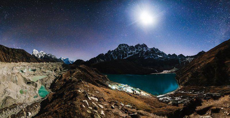 ночь, звезды, пейзаж, непал, горы Звёздные ночи Непалаphoto preview