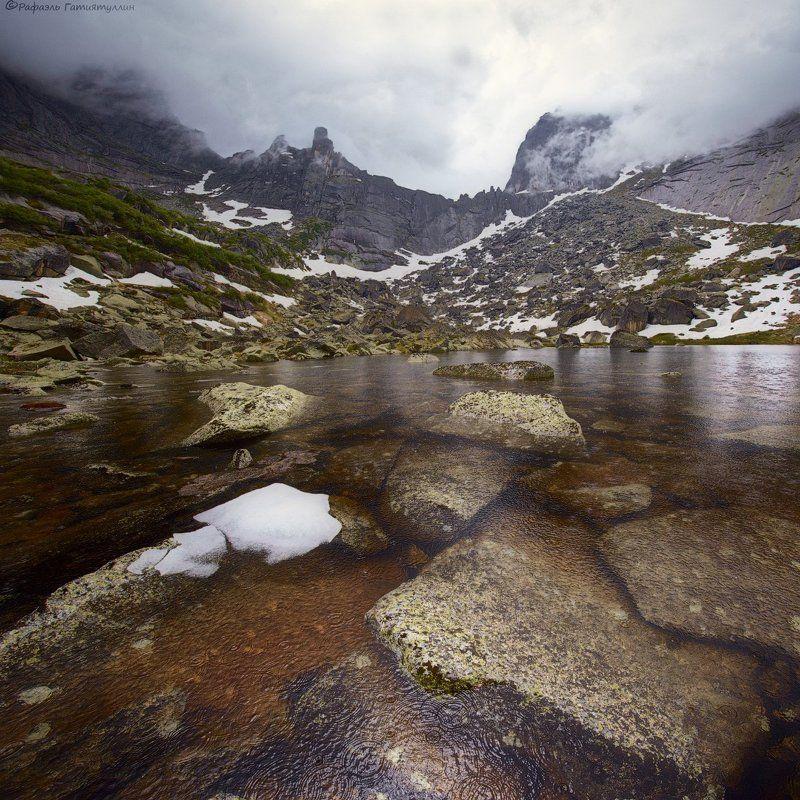 красноярский край, западные саяны, национальный парк  ергаки, озеро, вода, перевал, птица, узоры Узоры на воде.photo preview