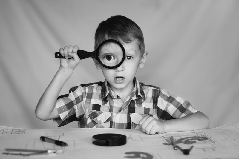 портрет ребенок жанровый Исследовательphoto preview