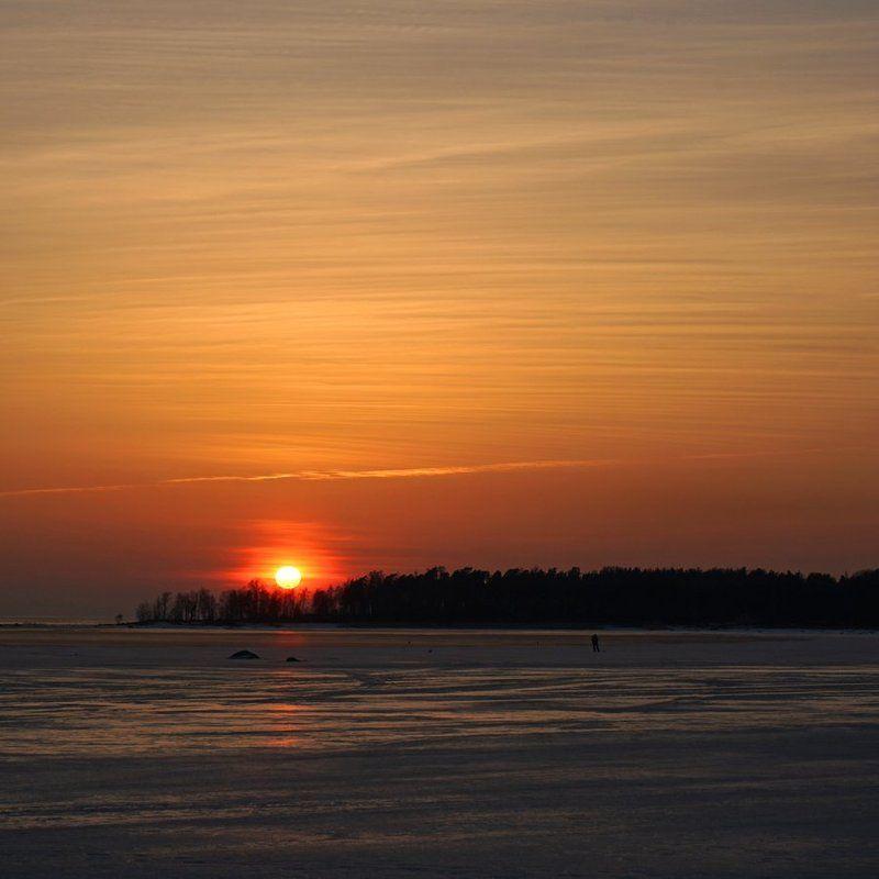 весна, закат, пейзаж Весенний вечер в Окунёвойphoto preview