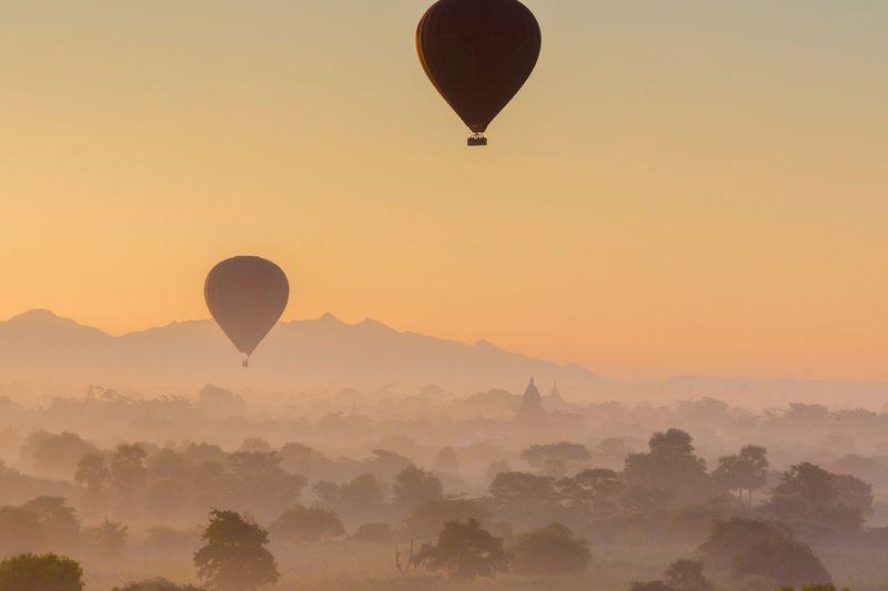Паган, Баган, Мьянма, Бирма, воздушный шар, пагода, Myanmar, Bagan, balloons, Burma, Pagodas, Таинственный Баганphoto preview