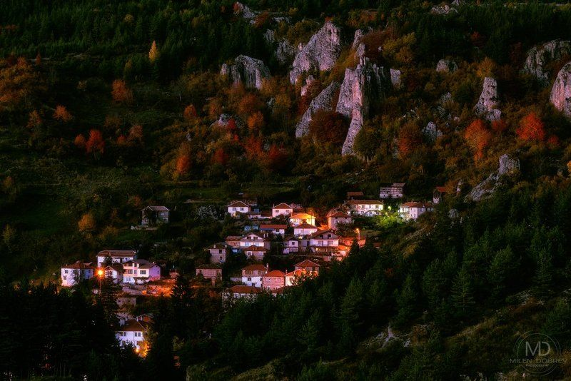 Bulgaria, village, Rhodope, mountain After sunsetphoto preview