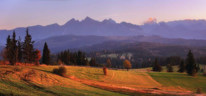 татры, польша, панорама, горы, закат, осень, октябрь Вечер под Татрамиphoto preview