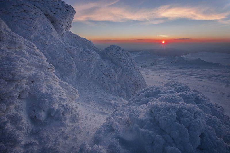 болгария, закат,  Северный Полюсphoto preview