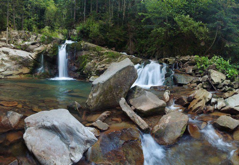карпаты, лес, водопад Лесной водопадphoto preview