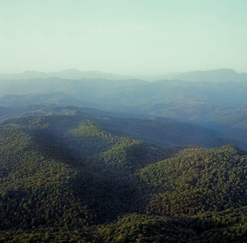 закат, горы, кавказ, лес calmephoto preview