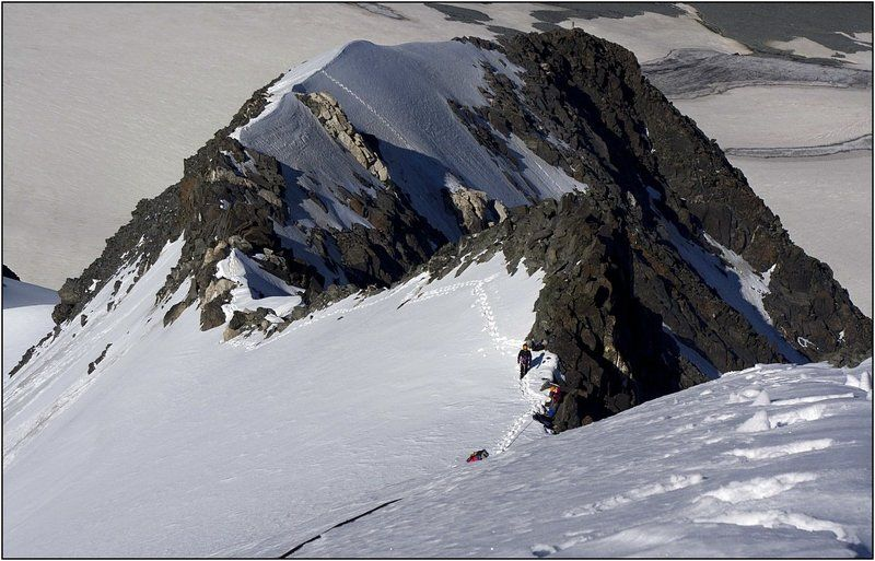 алтай, талдуринский ледник, иикту. На склонах пика Иикту.photo preview