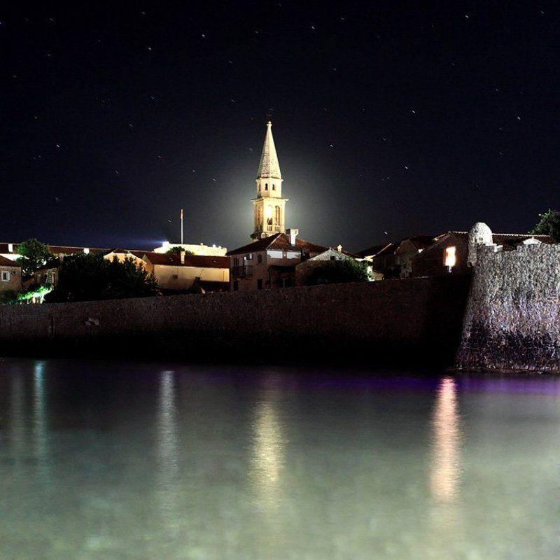 crna gora, budva Night Budvaphoto preview