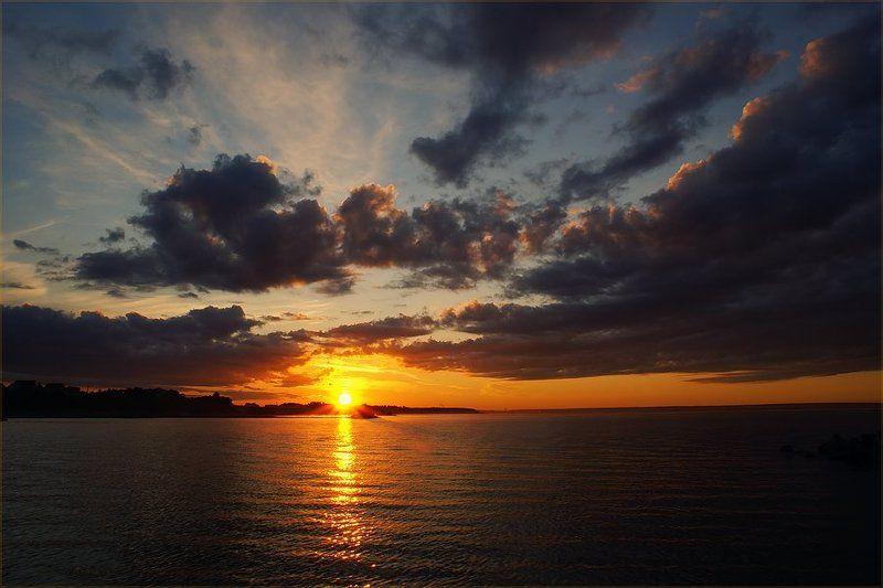 водохранилище, обское море, новосибирск, рассвет Sunrisephoto preview