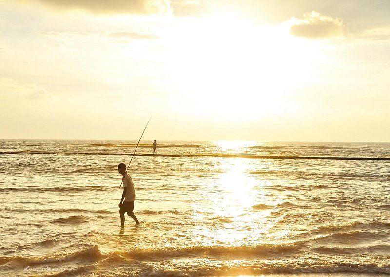 закат, путешествие, вечер, краски, рыбаки, лодки История одного закатаphoto preview