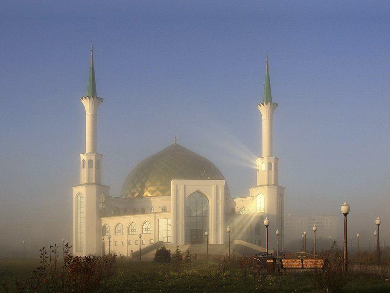 сибирь, лето, утро, мечеть, ислам Свет небесный. Утро.photo preview