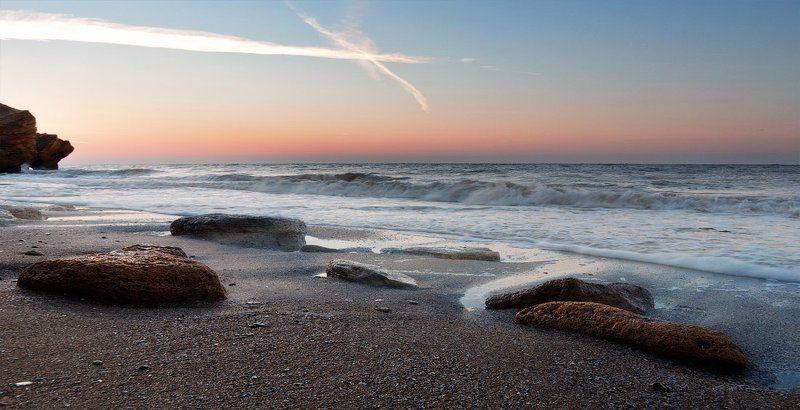 море, камни, песок, солнце, рассвет, пейзаж, фонтанка Рассвет нового дняphoto preview