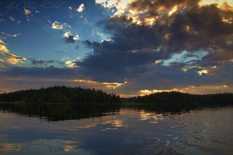 Закат над Красным . Соловкиphoto preview