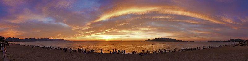 рассвет, море, пляж Рассветphoto preview