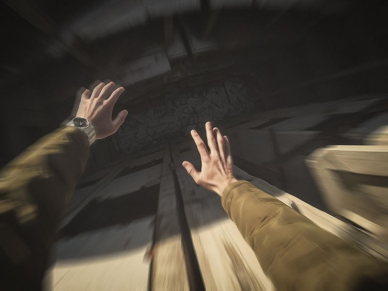 hands, POV, fall, danger Fallphoto preview