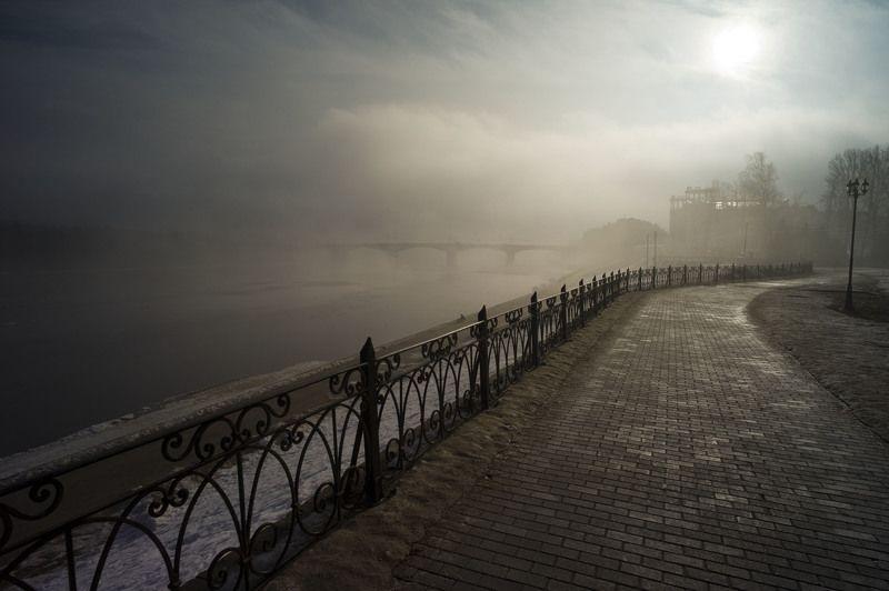 пейзаж туман весна любовь photo preview