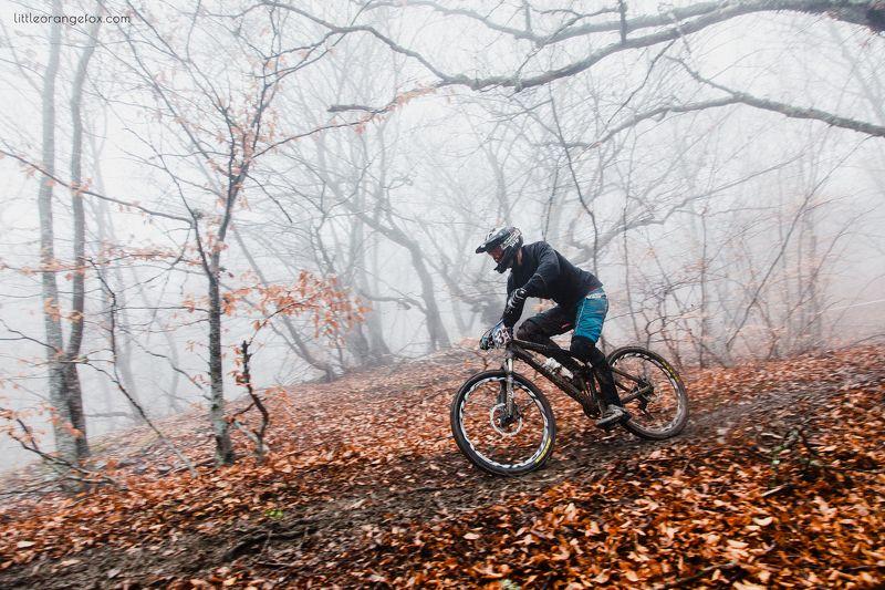 велосипед, осень, Демерджи, соревнования, спорт, экстрим Велики в туманеphoto preview