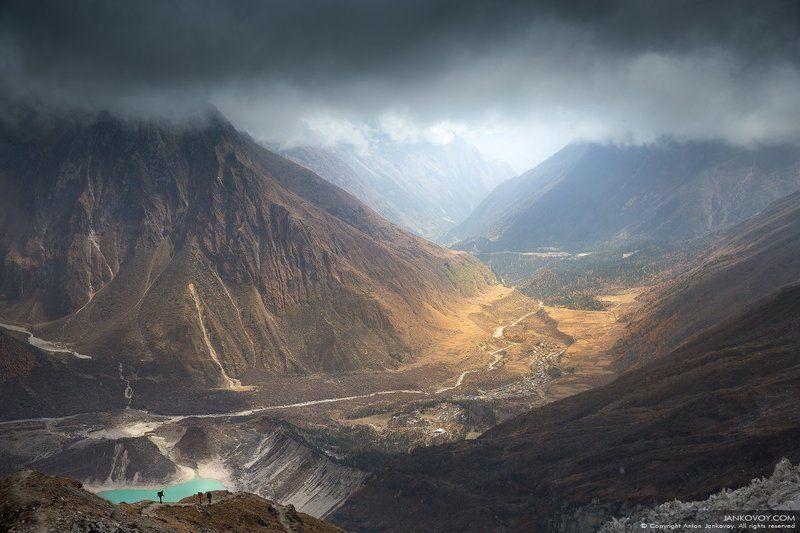 nepal, mountains, river, lake, glacier, gorge, samagaon, birendra, valley, himalayas, manaslu Ветер переменphoto preview
