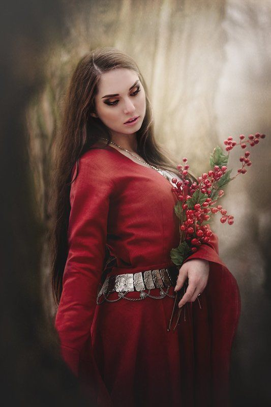 medieval girl portrait Anitaphoto preview