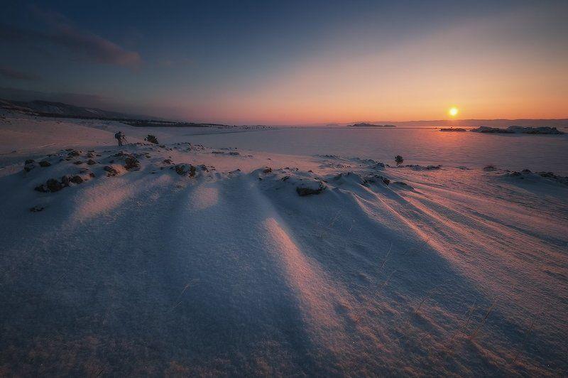 байкал Рассвет на мысе Хадарта...photo preview