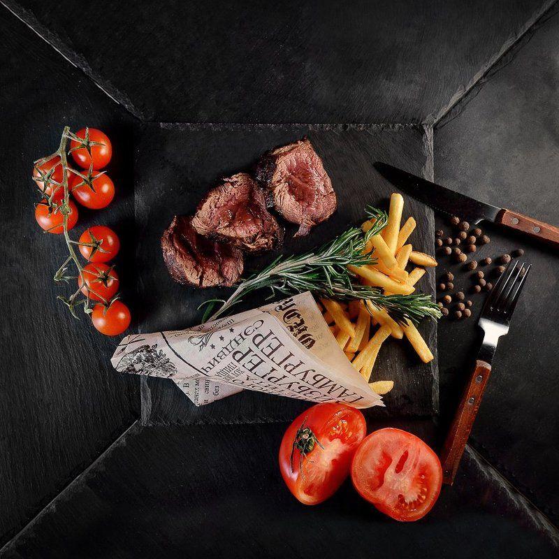 nikon, еда, мясо, томат, картошка, ужин Мясоphoto preview