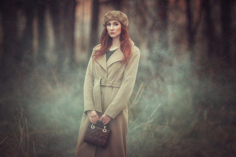 портрет, модель, весна, красный, природа, прическа, фотография, liliyanazarova Ekaterina | Liliya Nazarovaphoto preview