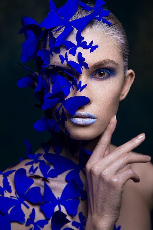 Бабочки, Макияж, Модель, Студия Butterflyphoto preview