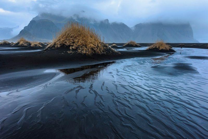 исландия Дождливый Stokksnesphoto preview